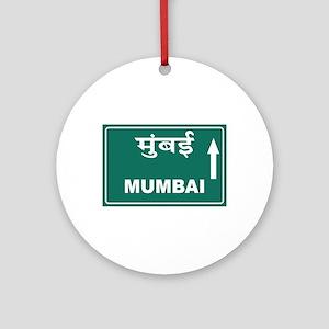 Mumbai (Bombay), India Round Ornament