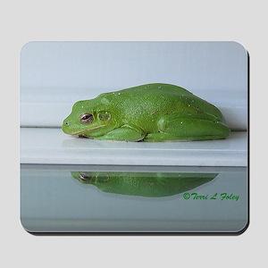 Barking Frog's Reflection Mousepad