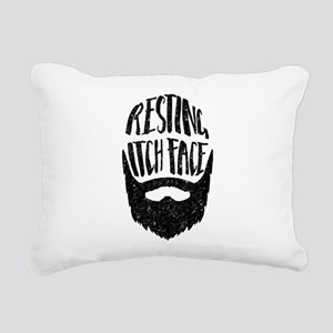 Resting Itch Face Funny Rectangular Canvas Pillow