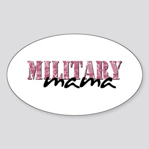 (Pink Camo) Oval Sticker