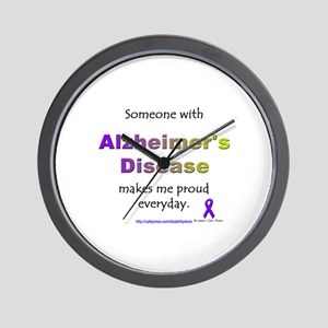 """Alzheimer Pride"" Wall Clock"
