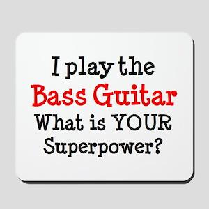 bass guitar player Mousepad