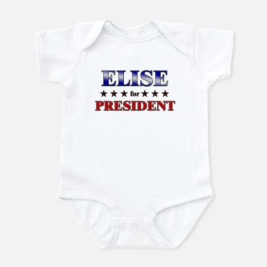 ELISE for president Infant Bodysuit