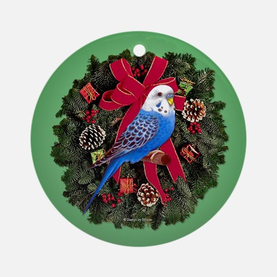 Budgie Ornament (Round)