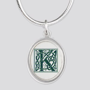 Monogram - Keith Silver Oval Necklace