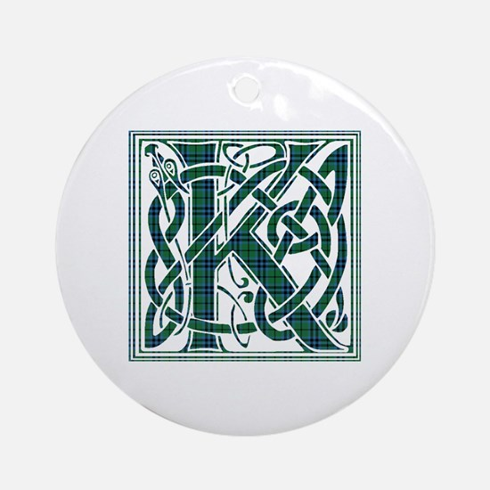 Monogram - Keith Ornament (Round)
