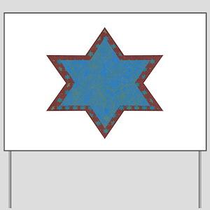 Jewish Star Chrismukkah Yard Sign