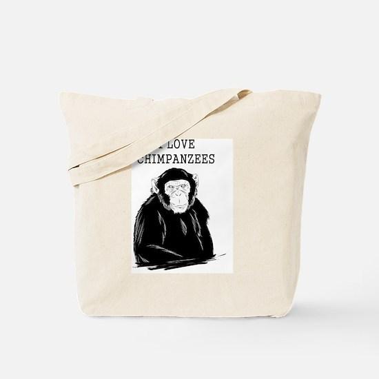 I Love Chimpanzees Tote Bag