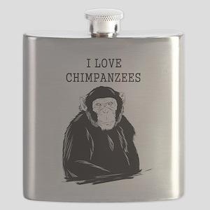 I Love Chimpanzees Flask