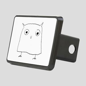 Owl Doodle Rectangular Hitch Cover