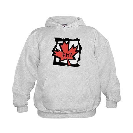 Canadian Maple Leaf Eh? Kids Hoodie