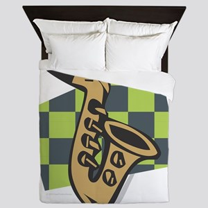 SAX - Saxophone Abstract Queen Duvet