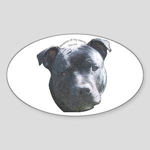 Staffordshire Bull Terrier Oval Sticker