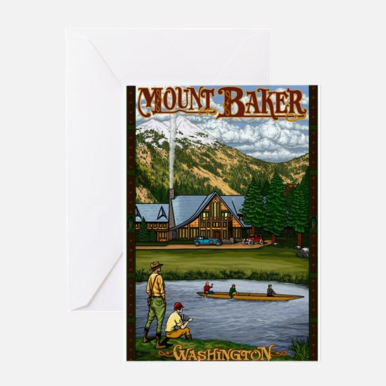 Mount Baker, Washington Greeting Cards