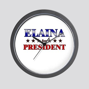 ELAINA for president Wall Clock