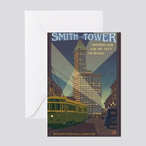 Seattle, Washington - Smith Tower Greeting Cards