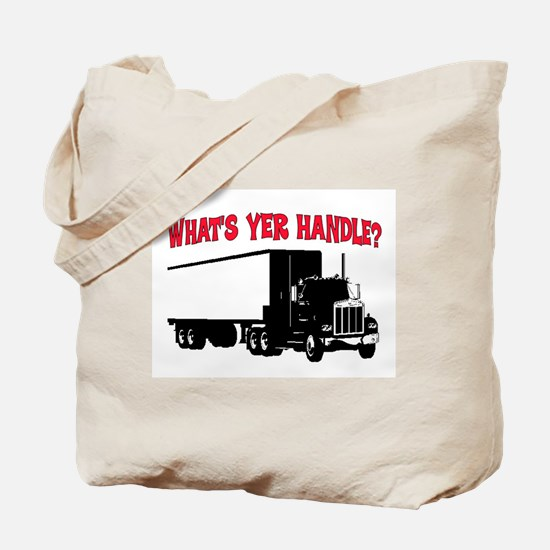 WHAT'S YER HANDLE?? Tote Bag