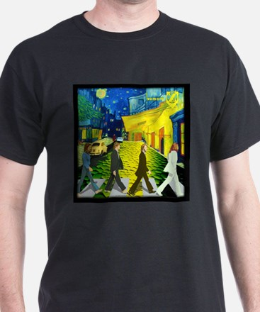Fab4 Van Gogh Road T-Shirt
