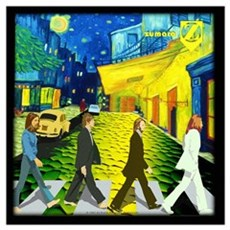 Fab4 Van Gogh Road Wall Art Canvas Art
