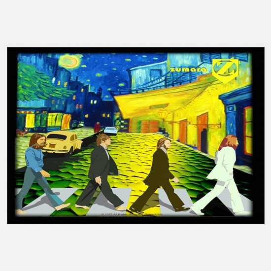 Fab4 Van Gogh Road Wall Art