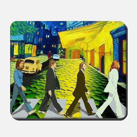 Fab4 Van Gogh Road Mousepad