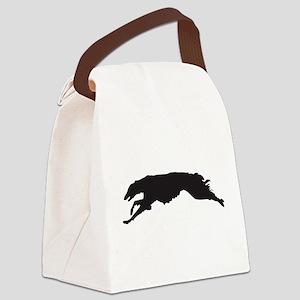 BORZOI COURSING Canvas Lunch Bag