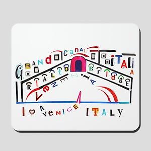 Venice, Italy Typography Mousepad