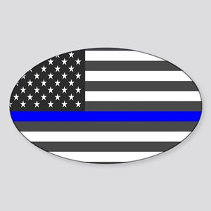 US Flag Blue Line Sticker