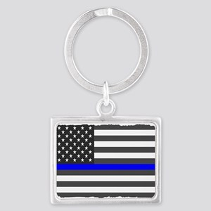 US Flag Blue Line Keychains