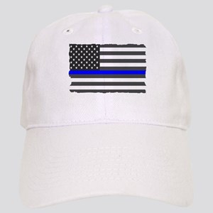 US Flag Blue Line Baseball Cap