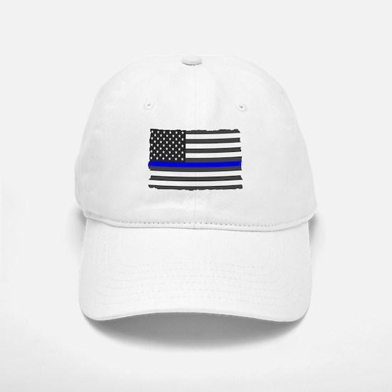 US Flag Blue Line Baseball Baseball Baseball Cap