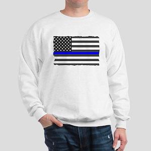 US Flag Blue Line Sweatshirt