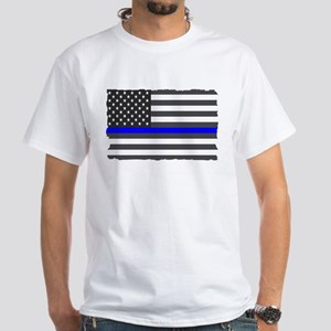 US Flag Blue Line T-Shirt