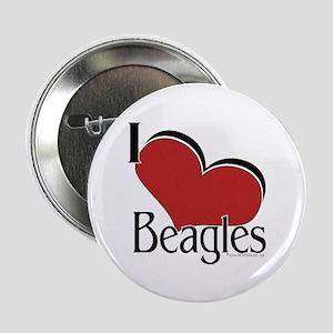 I love Beagles Button