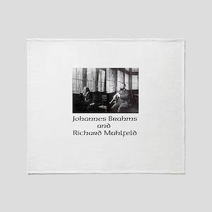 Brahms and Muhlfeld Throw Blanket