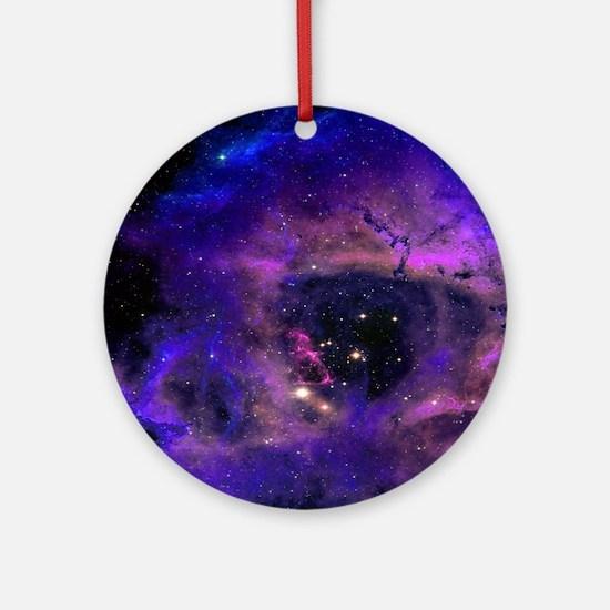 Unique Galaxy Round Ornament