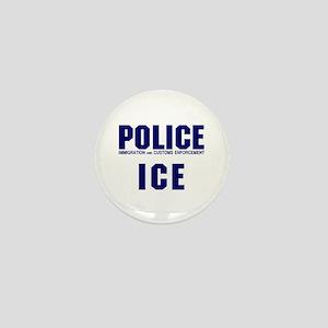POLICE ICE Mini Button