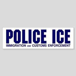 POLICE ICE Bumper Sticker