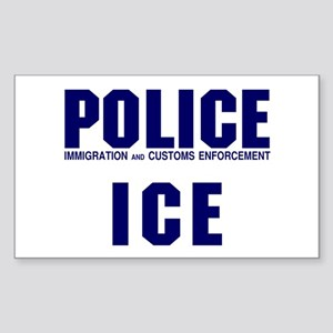 POLICE ICE Rectangle Sticker