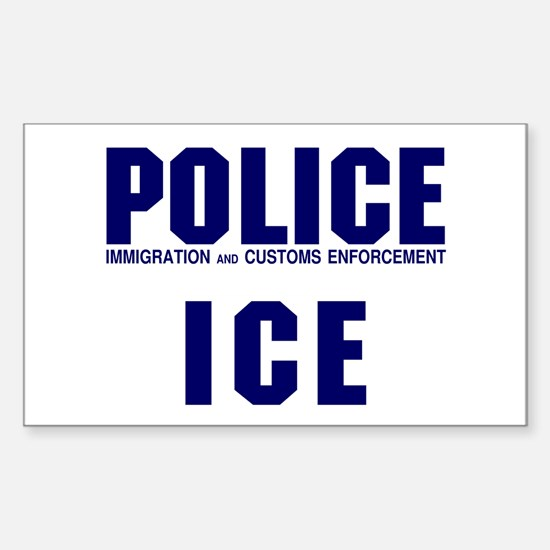 POLICE ICE Rectangle Decal