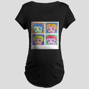 Betty Boop Pop Art Maternity Dark T-Shirt