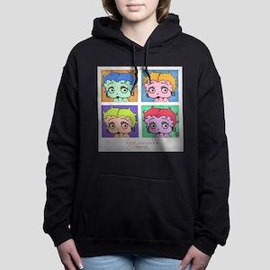 Betty Boop Pop Art Women's Hooded Sweatshirt