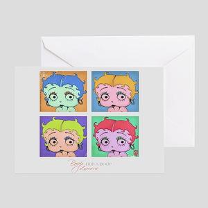 Betty Boop Pop Art Greeting Card