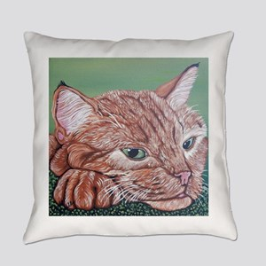 Orange Tabby Cat Everyday Pillow