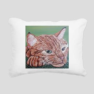 Orange Tabby Cat Rectangular Canvas Pillow