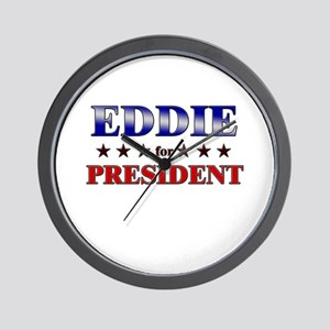 EDDIE for president Wall Clock