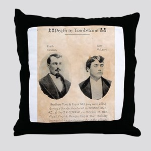 Death in Tombstone Throw Pillow