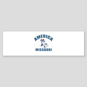 America State Missouri Designs Sticker (Bumper)