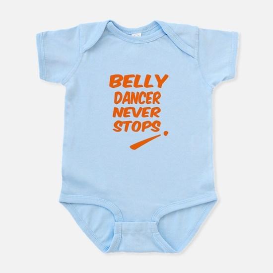 Belly Dancer Never Stops Baby Light Bodysuit