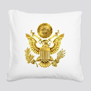 Presidential Seal, The White Square Canvas Pillow